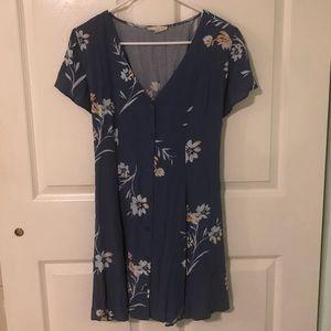PacSun L.A. Hearts Blue Floral Dress